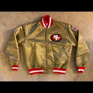 Gold SF 49ers Starter Jacket - Large - VTG MINT